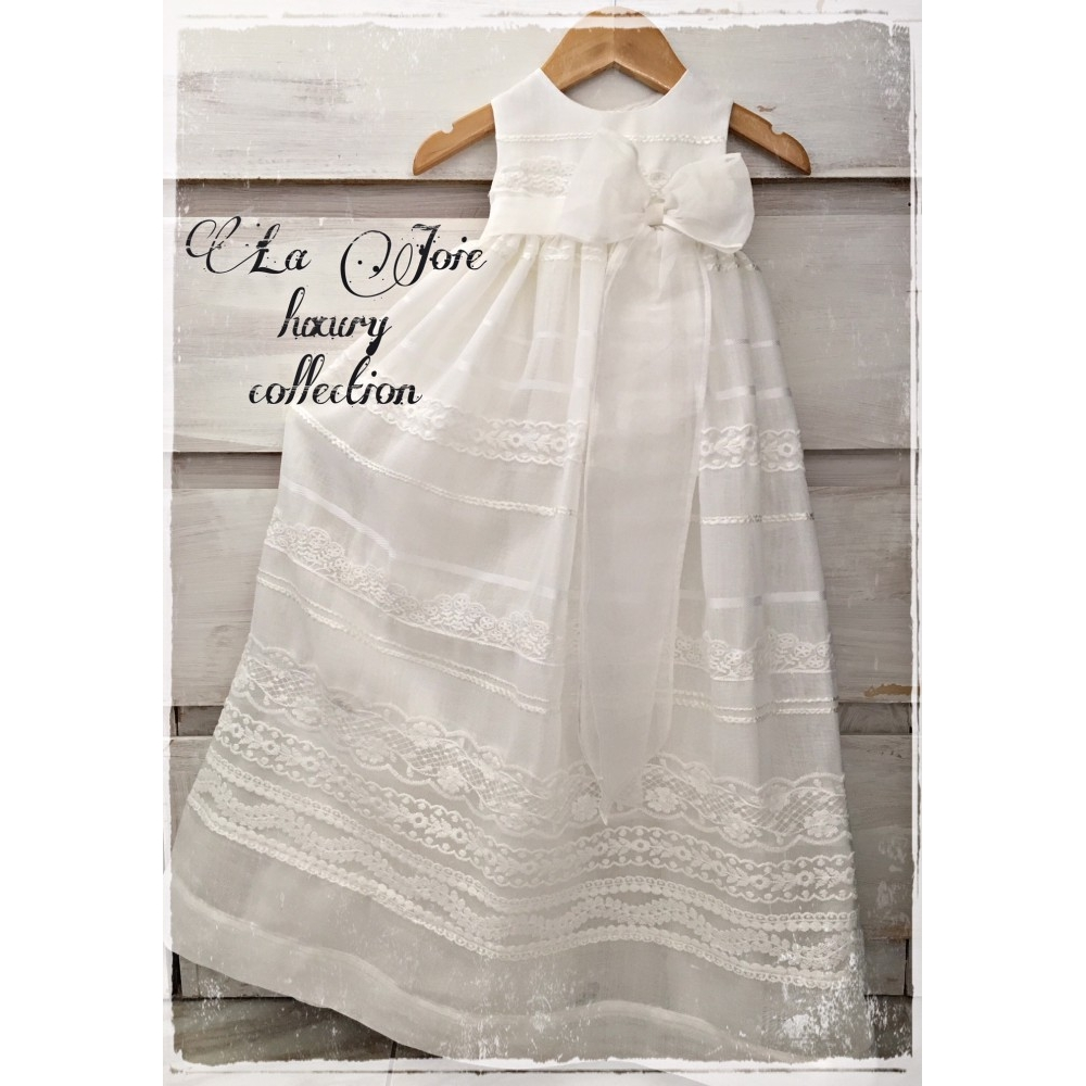 christening gown by la joie