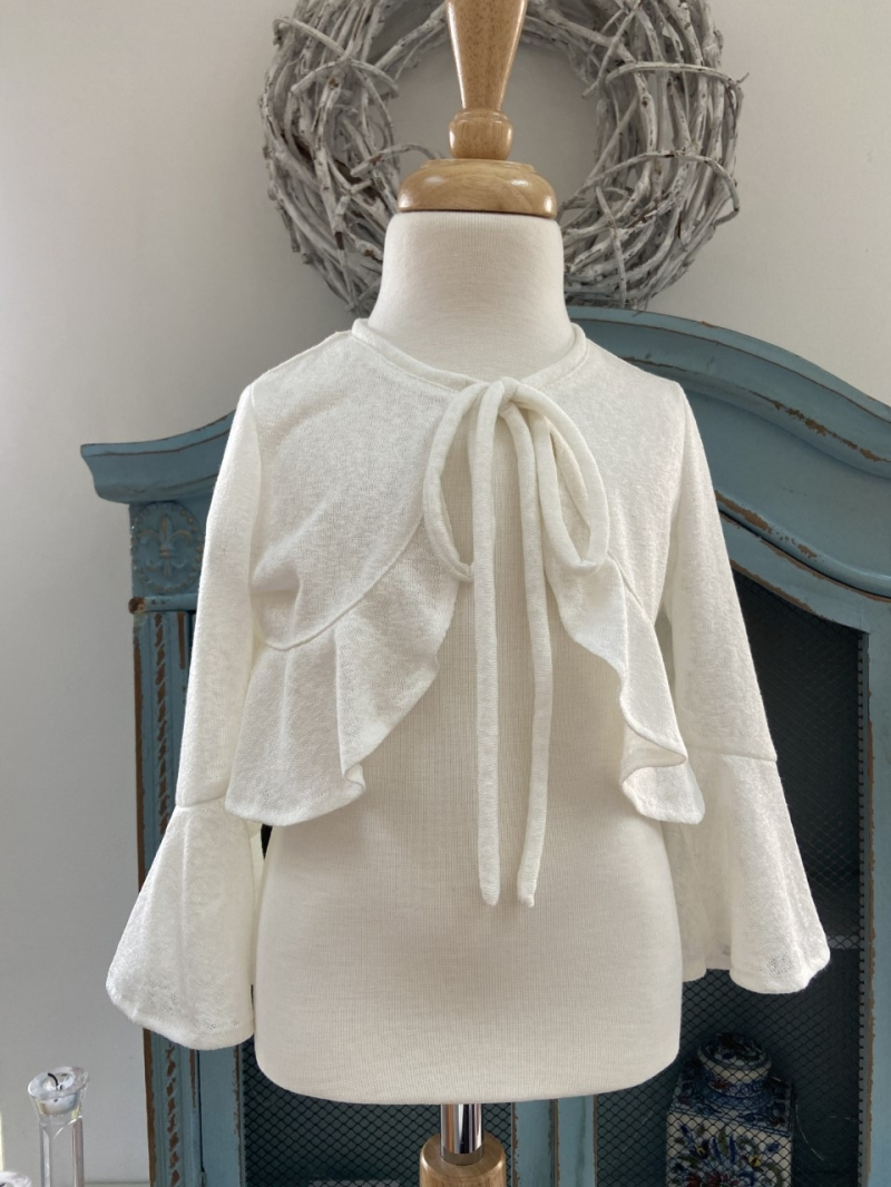 ivory communion cardigan/cover-up