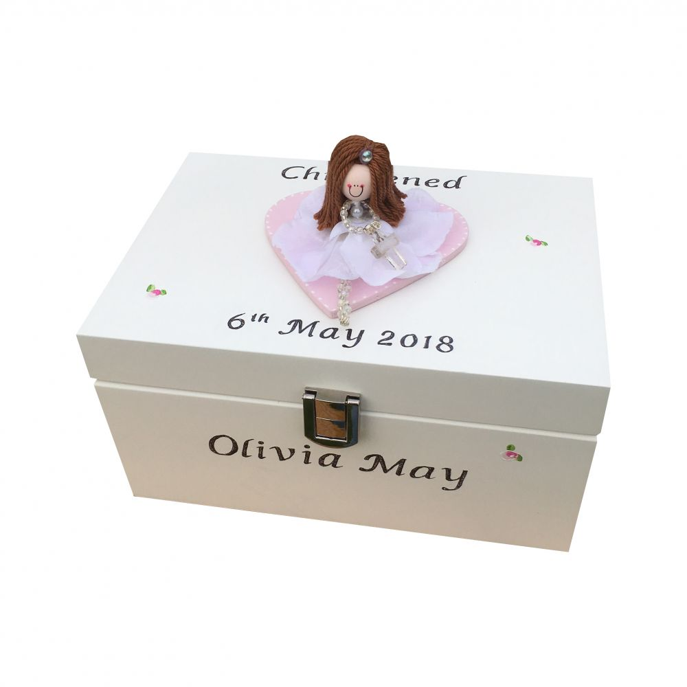 Personalised Christening Jewellery Box For Daughter Granddaughter