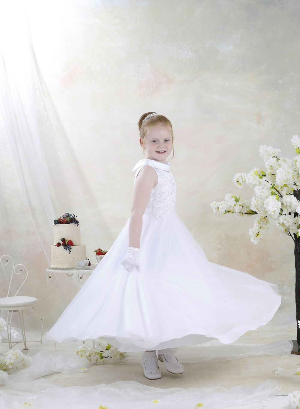 Celebrations Communion Dress - Red Rose