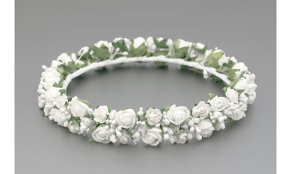 White Floral Rose Flower Crown