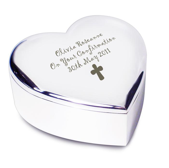 Bible Trinket Box PERSONALISED Silver Finish Christening Holy Communion Gifts UK