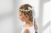 lacey bell - flower crown with organza ribbon