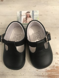 Spanish Handmade Navy Leather Baby Boy Shoes