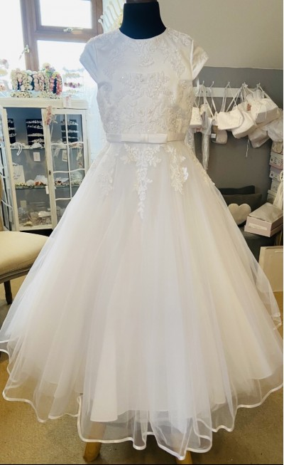 Isabella Tulle and Lace Dress - T Length - IS20550