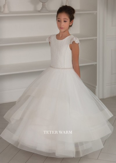 White Communion Dress - 212 by Teter Warm