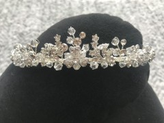 Girls Communion Tiara - Elegant Silver and Sparkling Crystals by Little People 5322