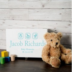 christening keepsake box for baby boy