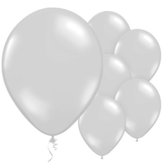 "silver balloons 11"" metallic latex"