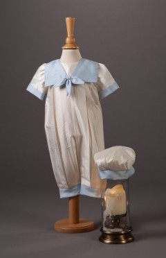 Butler - Boys Christening Traditional Style Romper