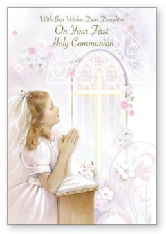 First Communion Card for Daughter C27134