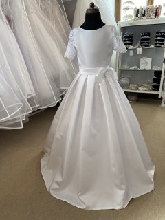 Full Length Satin & Lace Communion Dress