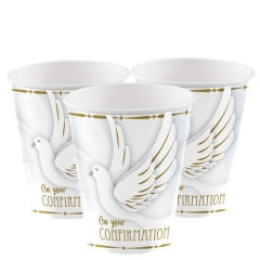 confirmation dove cups