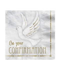 confirmation dove napkins