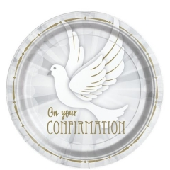 confirmation dove plates