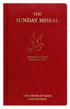 Sunday Roman Missal For Confirmation - Red F4516/WH