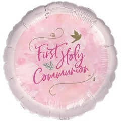 Pink First Holy Communion Balloon - 18
