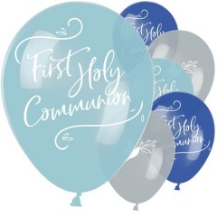 First Holy Communion Blue Mix Balloons - 11