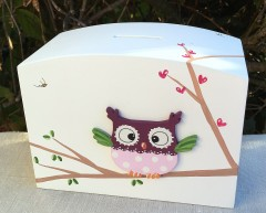Personalised Owl Christening Money Box