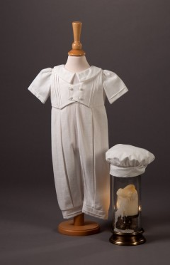 .Jude - Linen look cotton romper with long leg