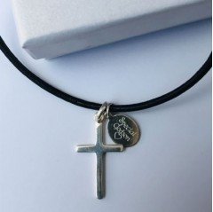 Boys Classic Sterling Silver Cross -Special Tag