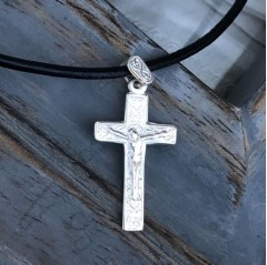 Boys Sterling Silver Crucifix Necklace