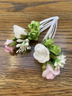 Pair of Small Floral Hair Slides