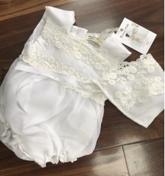 christening romper pila by bianca miele