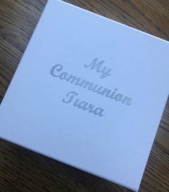 personalised communion tiara box