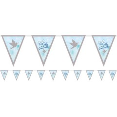 Blue First Communion Pennant Bunting - 4m