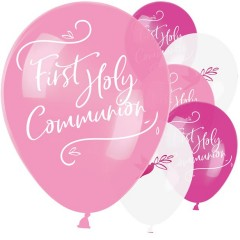 First Holy Communion Pink Mix Balloons - 11