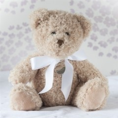 Small Personalised Bramble Christening Bear