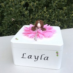 Personalised Girls First Communion Rosary/Trinket Box