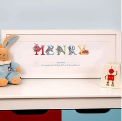 baby boy christening phonetic name frame