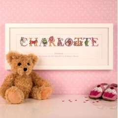 Baby Girl Christening Phonetic Name Frame