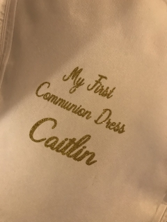 personalised dress cover - my first communion dress