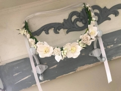 handmade floral crown - spring time