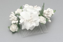 Small White Flower Comb