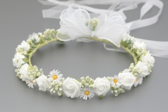 floral daisy & rose flower crown