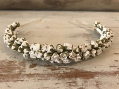 Handmade Floral Hairband with Small White Roses
