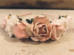 Handmade-Floral-Hairband-with-Pink---White-Flowers---Communion-or-Flower-Girl