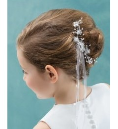 emmerling floral hair accessory comb & ribbon trails 77515