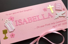 Personalised First Communion Card for girls