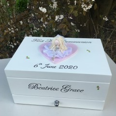 Deluxe Personalised Communion Jewellery Box