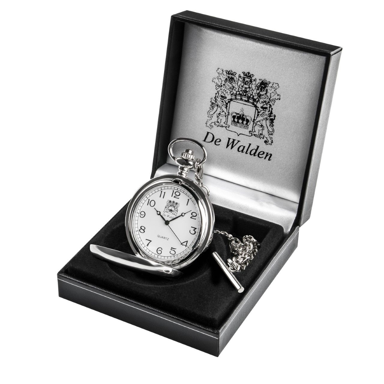 Boy's First Holy Communion Gift - Personalised Engraved Pocket Watch in a Quality Gift Box.