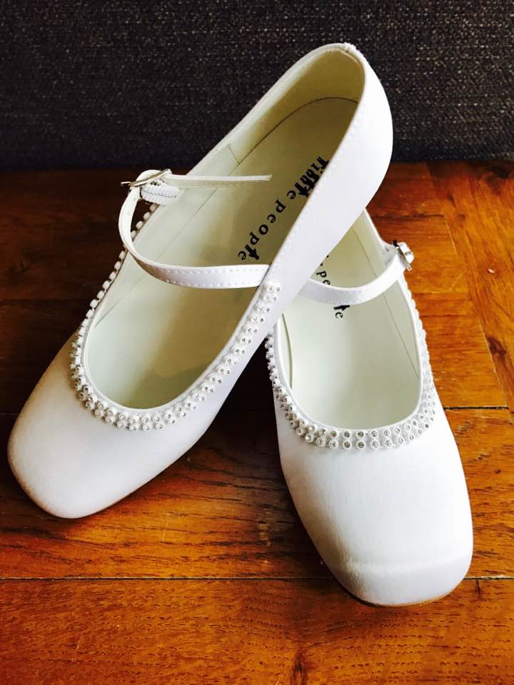 b60dd82e303ea Girls Communion Shoes - Childrens White Shoes - Girls First Holy ...