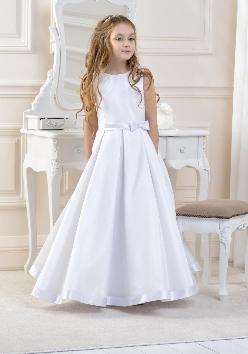 1af8e121 AGE 7 ONLY - Lacey Bell - Style CD7 - Full Length Satin Communion Dress