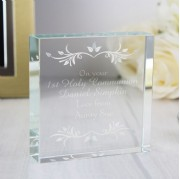 Personalised Communion Crystal Gifts & Jade Blocks